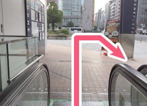 四ツ橋駅からの経路図